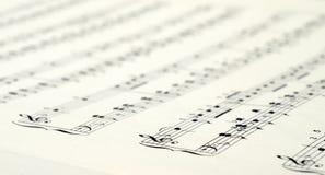 Fondo dello spartito di musica Fotografia Stock