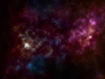 Fondo dello spazio con le stelle e la nebulosa Immagini Stock Libere da Diritti