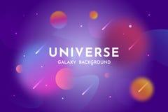 Fondo dello spazio cosmico Universo, modello d'ardore del contesto dell'estratto della galassia royalty illustrazione gratis