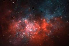 Fondo dello spazio del cielo notturno con la nebulosa e le stelle Fotografie Stock Libere da Diritti