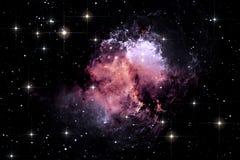 Fondo dello spazio del cielo notturno con la nebulosa e le stelle Immagine Stock Libera da Diritti