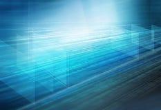 Fondo dello spazio di codice binario 3D di Digital Immagine Stock