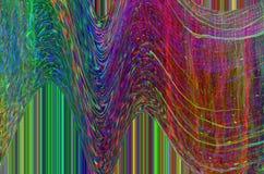 Fondo dello spazio di impulso errato Vecchio errore dello schermo della TV Progettazione dell'estratto di rumore del pixel di Dig Immagini Stock Libere da Diritti