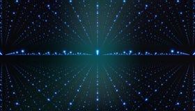 Fondo dello spazio interstellare di vettore Illustrazione cosmica della galassia con la nebulosa, lo stardust e le stelle brillan Immagine Stock
