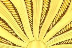 Fondo dello sprazzo di sole dell'oro con i raggi ed i fasci. Fotografia Stock Libera da Diritti