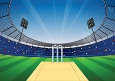 Fondo dello stadio del cricket Fotografie Stock