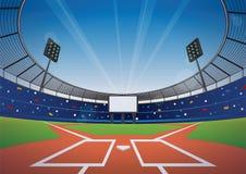 Fondo dello stadio di baseball Immagini Stock Libere da Diritti