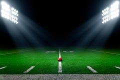 Fondo dello stadio di football americano fotografia stock