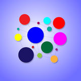 Fondo dependiente y coloreado circular Fotografía de archivo libre de regalías