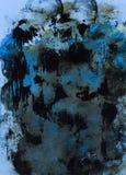 Fondo depressivo di arte moderna di frustrazione Fotografie Stock Libere da Diritti