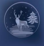 Fondo derecho del raindeer de la Navidad Imágenes de archivo libres de regalías