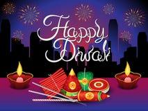 Fondo detallado artístico del diwali con las galletas ilustración del vector