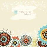 Fondo detallado del ornamento con los círculos coloridos Imagen de archivo libre de regalías