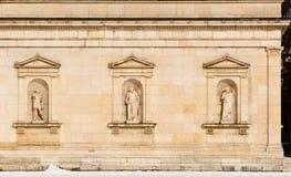 Fondo - detalle histórico del edificio Imagenes de archivo