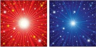 Fondo determinado de los ofChristmas del vector con las estrellas Foto de archivo