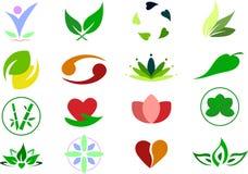 Fondo determinado del ejemplo del logotipo del icono de la salud Imagen de archivo libre de regalías