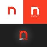 Fondo determinado del icono del diseño del logotipo de la letra N stock de ilustración