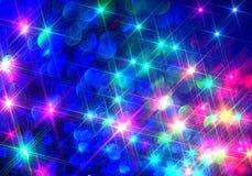 Fondo di Ðœodern dei raggi brillanti variopinti sul blu illustrazione di stock