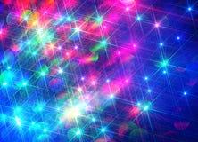Fondo di Ðœodern dei raggi brillanti variopinti sul blu illustrazione vettoriale