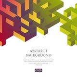 Fondo di Abstact nello stile isometrico L'illusione di un'immagine tridimensionale illustrazione di stock