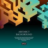 Fondo di Abstact nello stile isometrico L'illusione di un'immagine tridimensionale royalty illustrazione gratis