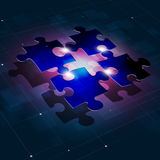 Fondo di affari del collegamento di puzzle Fotografia Stock