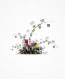 Fondo di affari di concetto di tecnologia della pianta del computer Immagine Stock