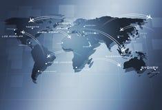 Fondo di affari di Global Aviation Fotografia Stock Libera da Diritti