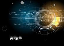 Fondo di affari di nuova tecnologia illustrazione vettoriale