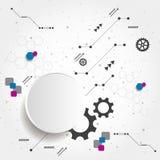 Fondo di affari di nuova tecnologia Immagine Stock