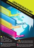 Fondo di affari di vettore con i grafici economici verticali Immagini Stock Libere da Diritti