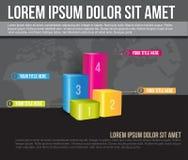 Fondo di affari di vettore con un grafico di quattro livelli Fotografia Stock Libera da Diritti