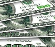 Fondo di alcuni 100 dollari di U.S.A. Immagine Stock