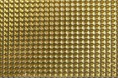 Fondo di alluminio astratto di struttura dell'oro Fotografia Stock
