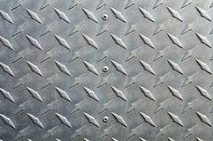 Fondo di alluminio brillante con la parte diagonale di sollievo Immagine Stock Libera da Diritti