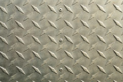 Fondo di alluminio brillante con la parte diagonale di sollievo Immagine Stock