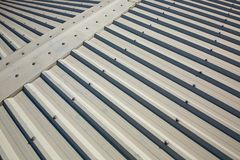 Fondo di alluminio del tetto Immagine Stock Libera da Diritti