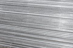 Fondo di alluminio Fine di struttura dell'acciaio inossidabile su Fotografie Stock