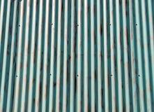 Fondo di alluminio ondulato Fotografia Stock