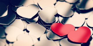 Fondo di amore Fotografia Stock