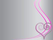 Fondo di amore con il turbinio ed il cuore Fotografie Stock Libere da Diritti