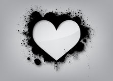 Fondo di amore dei graffiti Immagini Stock