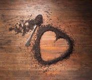 Fondo di amore del tè del cuore Immagini Stock