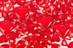 Fondo di amore fatto dei cuori decorativi Fotografia Stock Libera da Diritti