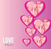 Fondo di amore Rosa rossa fotografie stock libere da diritti