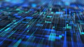 Fondo di animazione del fondo del circuito di tecnologia di rete illustrazione di stock
