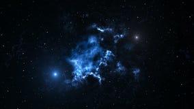 Fondo di animazione dello spazio con la nebulosa, stelle La Via Lattea, la galassia e la nebulosa royalty illustrazione gratis