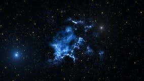 Fondo di animazione dello spazio con la nebulosa, stelle La Via Lattea, la galassia e la nebulosa illustrazione di stock