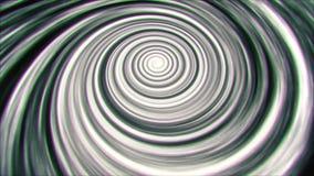 Fondo di animazione di vortice del filo di ordito di tempo dello spazio di BW video d archivio