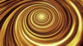Fondo di animazione di vortice del filo di ordito di tempo dello spazio dell'oro archivi video
